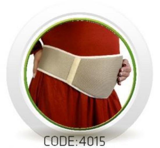 تصویر از شکم بند دوران بارداری سه بعدی سماطب
